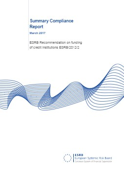 Summary Compliance Report - ESRB Recommendation on funding of credit institutions ESRB/2012/2 - cover image