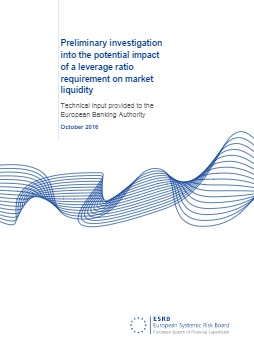 Preliminary investigation into the potential impact of a leverage ratio requirement on market liquidity - cover image