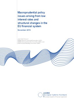 Macroprudential policy issues arising from low interest rates and structural changes in the EU financial system - cover image